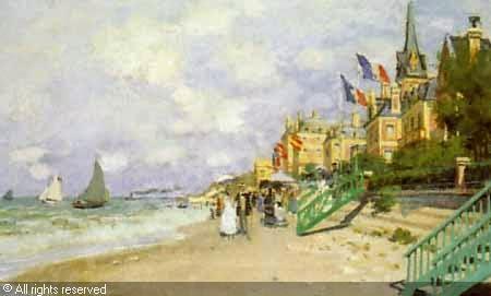 Клод Моне Пляж в Трувиле.