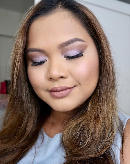 zoeva melody eyeshadow palette on face  morena skin filipina