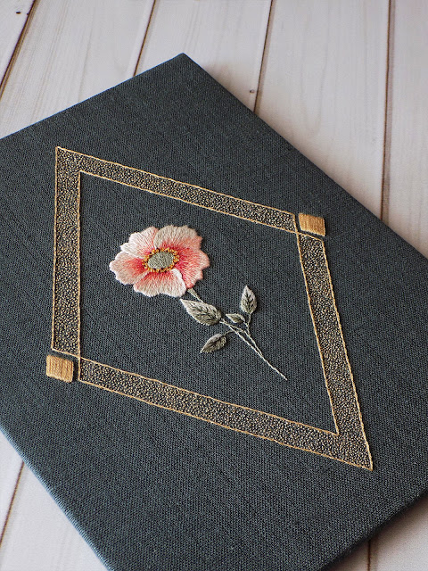 Jewel Series: Rhodochrosite hand embroidery pattern
