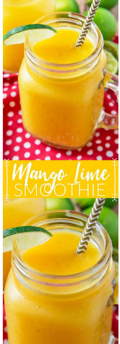 MANGO LIME SMOOTHIE #drink #manggo