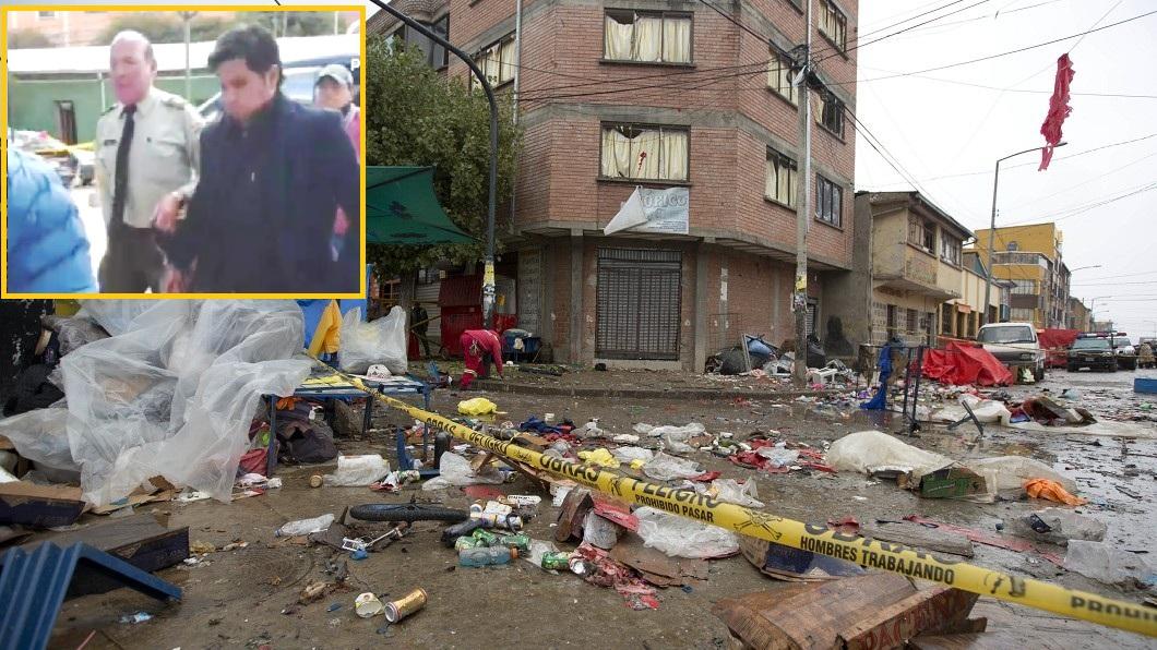 Primera explosión acabó con ocho miembros de la familia Gutiérrez / MONTAJE / AP