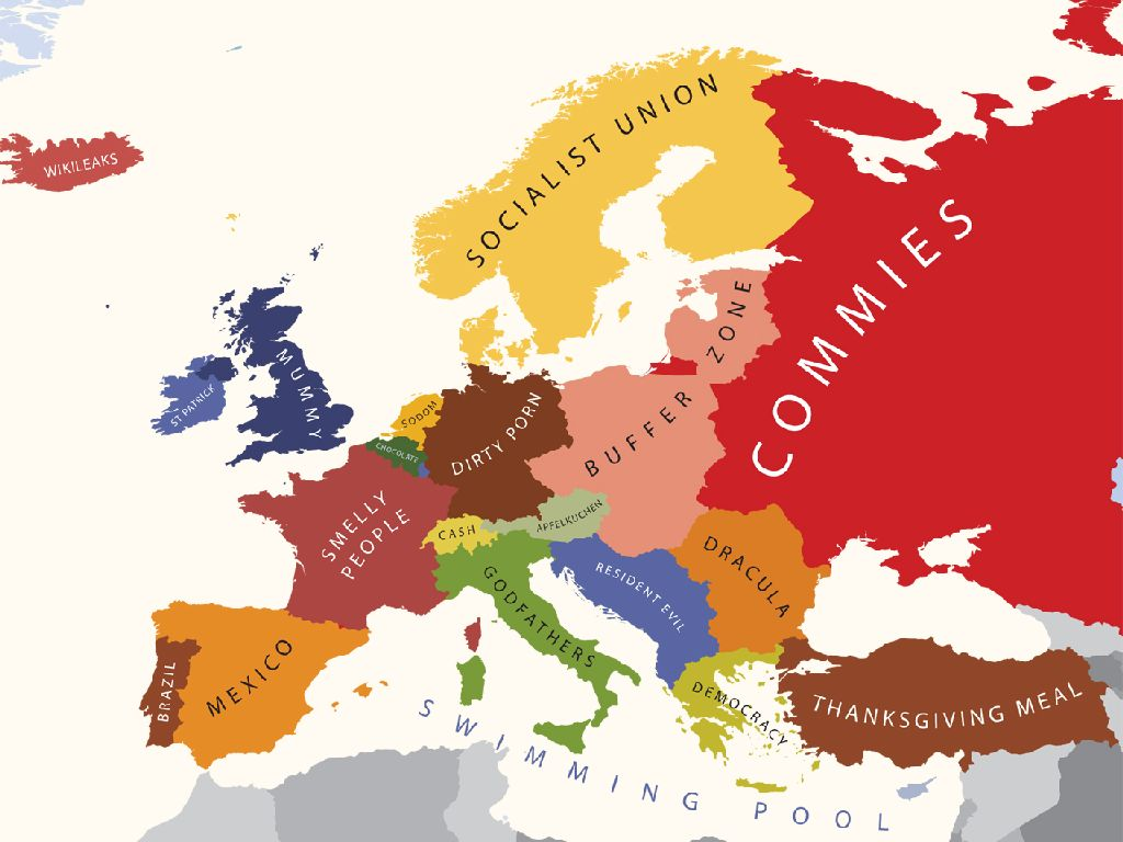 american map of europe