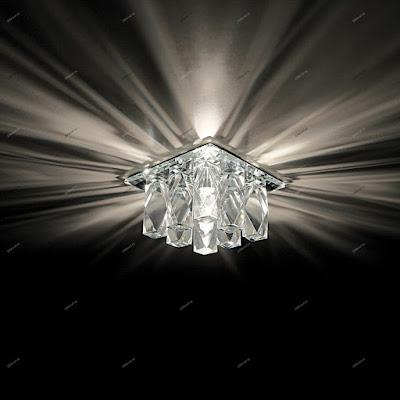 Натяжные потолки в Курганинске - светильники и люстры