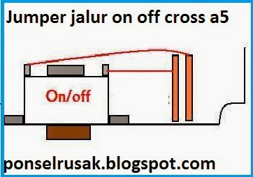 Tutorial cara jumper jalur tombol on cross a5