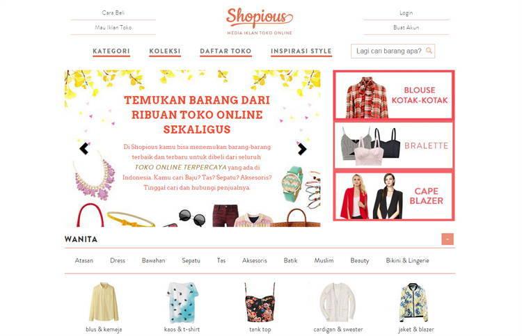 Shopious.com, Tokonya Toko Online Buat Belanja Online Mudah