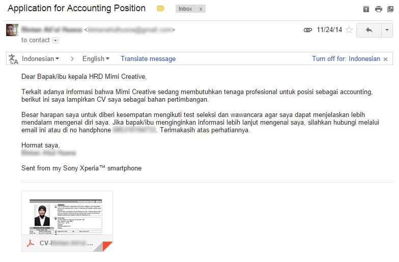 , contoh surat lamaran kerja via email doc, contoh lamaran kerja
