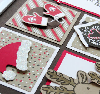 Stampin' Up! Candy Cane Lane Christmas Sampler Frame #stampinup www.juliedavison.com
