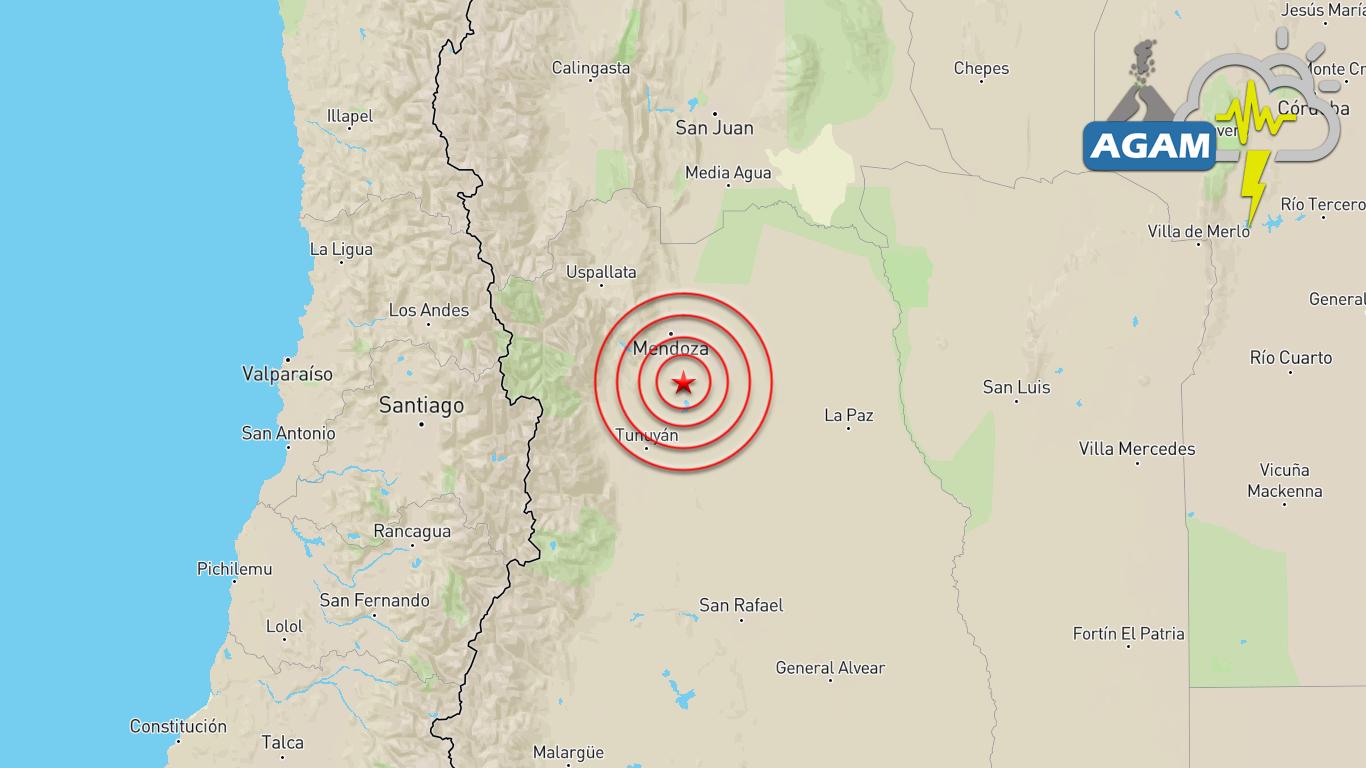 Sismo magnitud 4.5 alteró la tarde de sábado en Mendoza