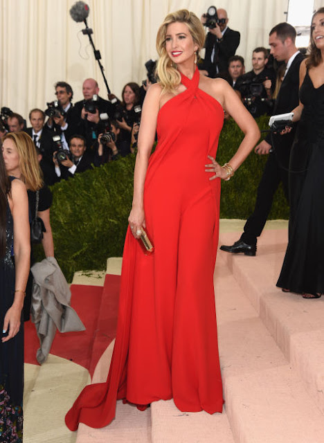 Ivanka Trump  Carpete vermelha Red carpet: As mais bem vestidas na Met Gala 2016