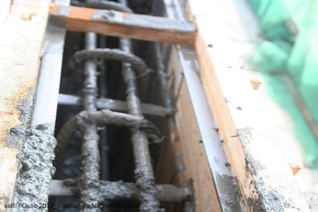 parapetto in cemento armato reinforced concrete railing