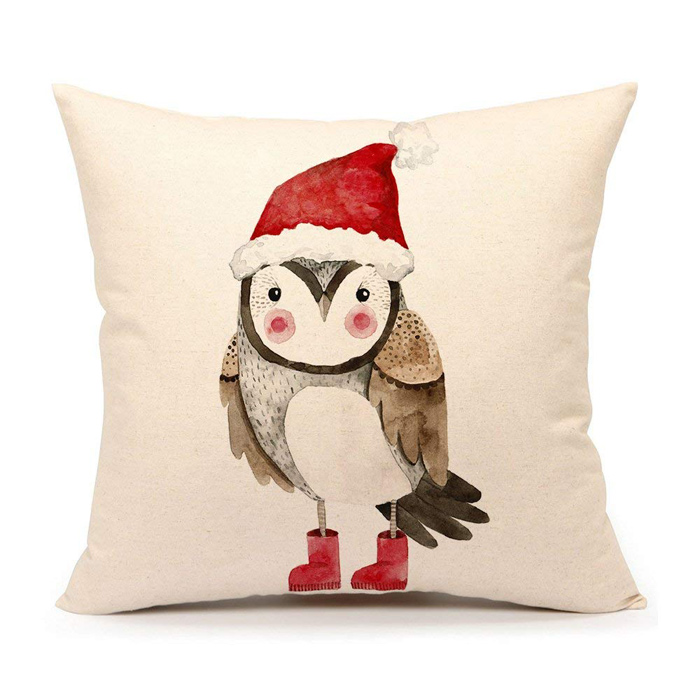 Christmas Owl Pillow