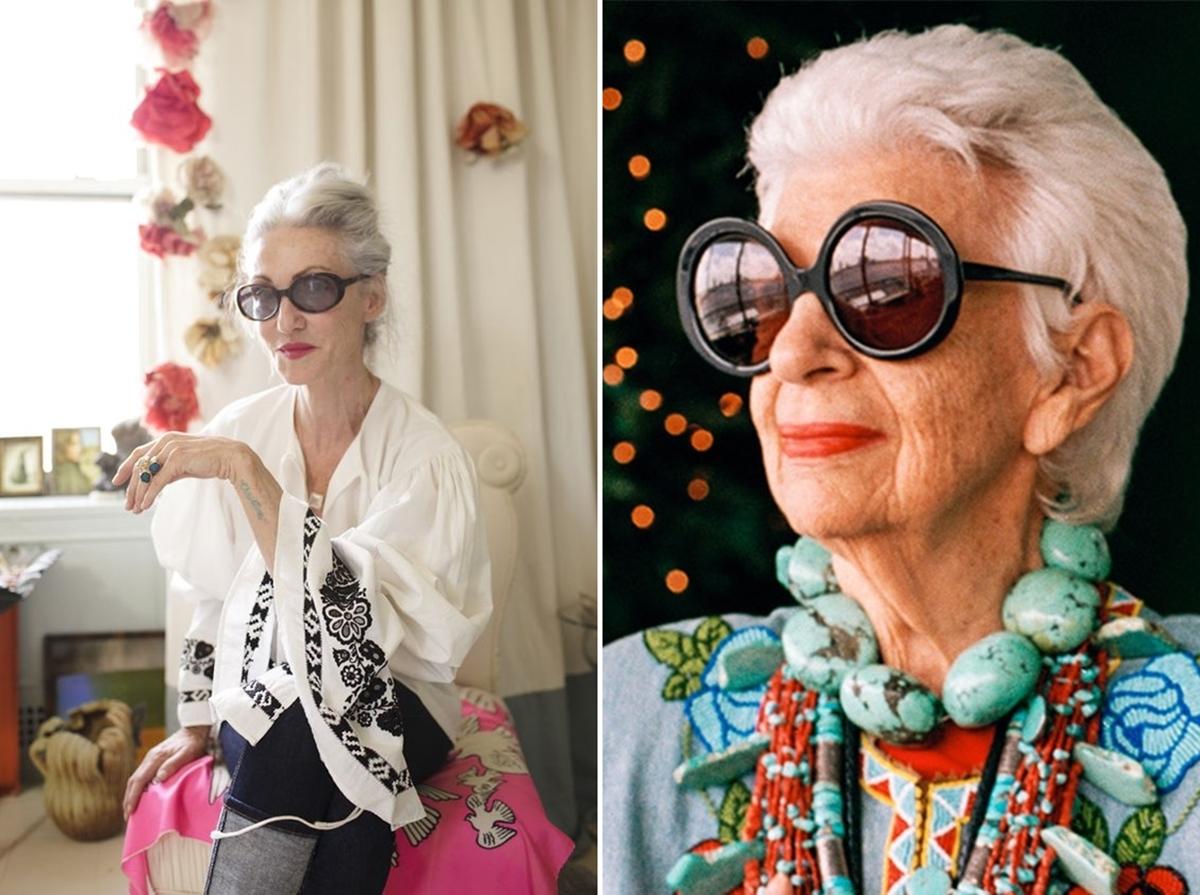 Alter, sehen die toll aus...!  Linda Rodin & Iris Apfel