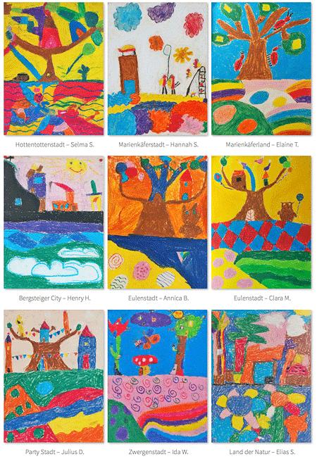 Kunst fördert Kinder - Arbeitstitel: Traumstädte - wunderschöne und fantasievolle kleine Meisterwerke von jungen Künstlern.