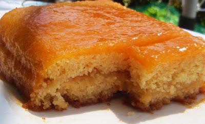 Tarta ligera de albaricoque y manzana