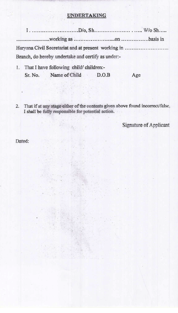 Harana CCL Application Form Check List And Undertaking