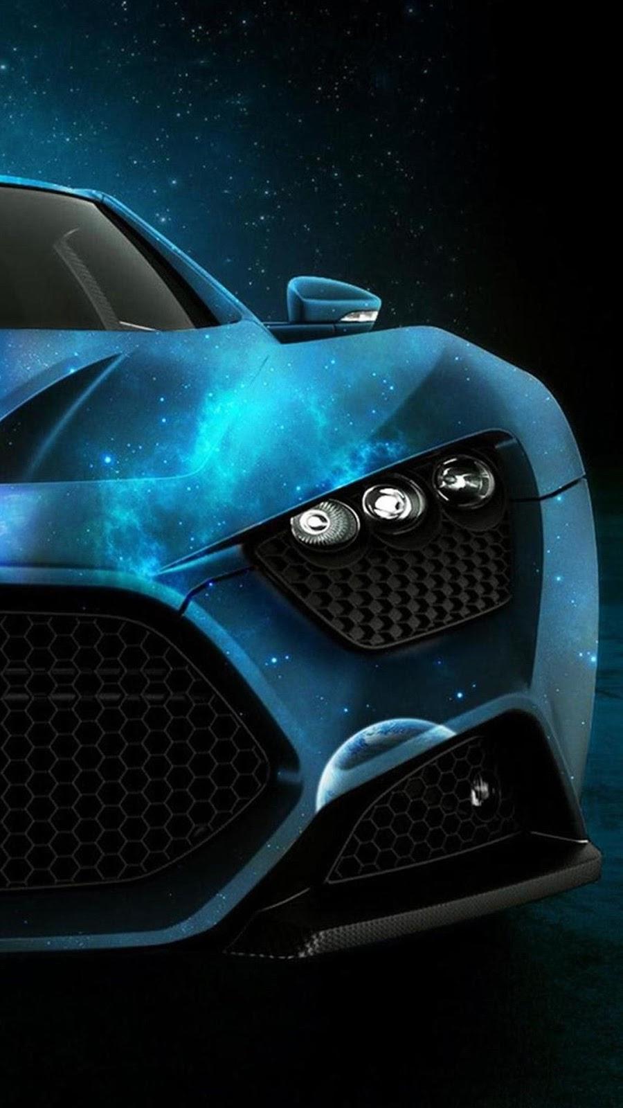 Papel de parede Para Iphone carro azul