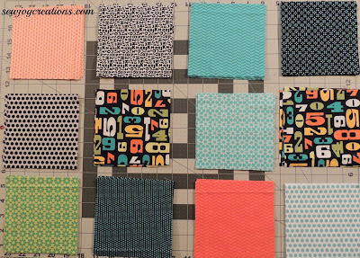 a mix of light, bright and dark fabrics for the churns will make a cheerful quilt