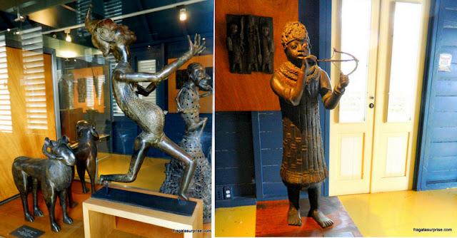 Esculturas africanas no Museu Kura Hulanda, Curaçao