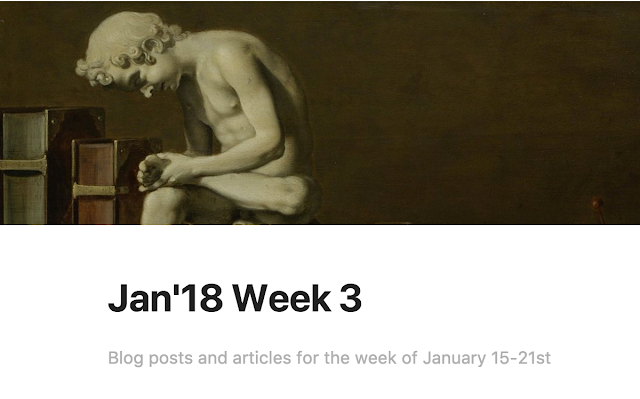 Reading List for January 2018, Week 3