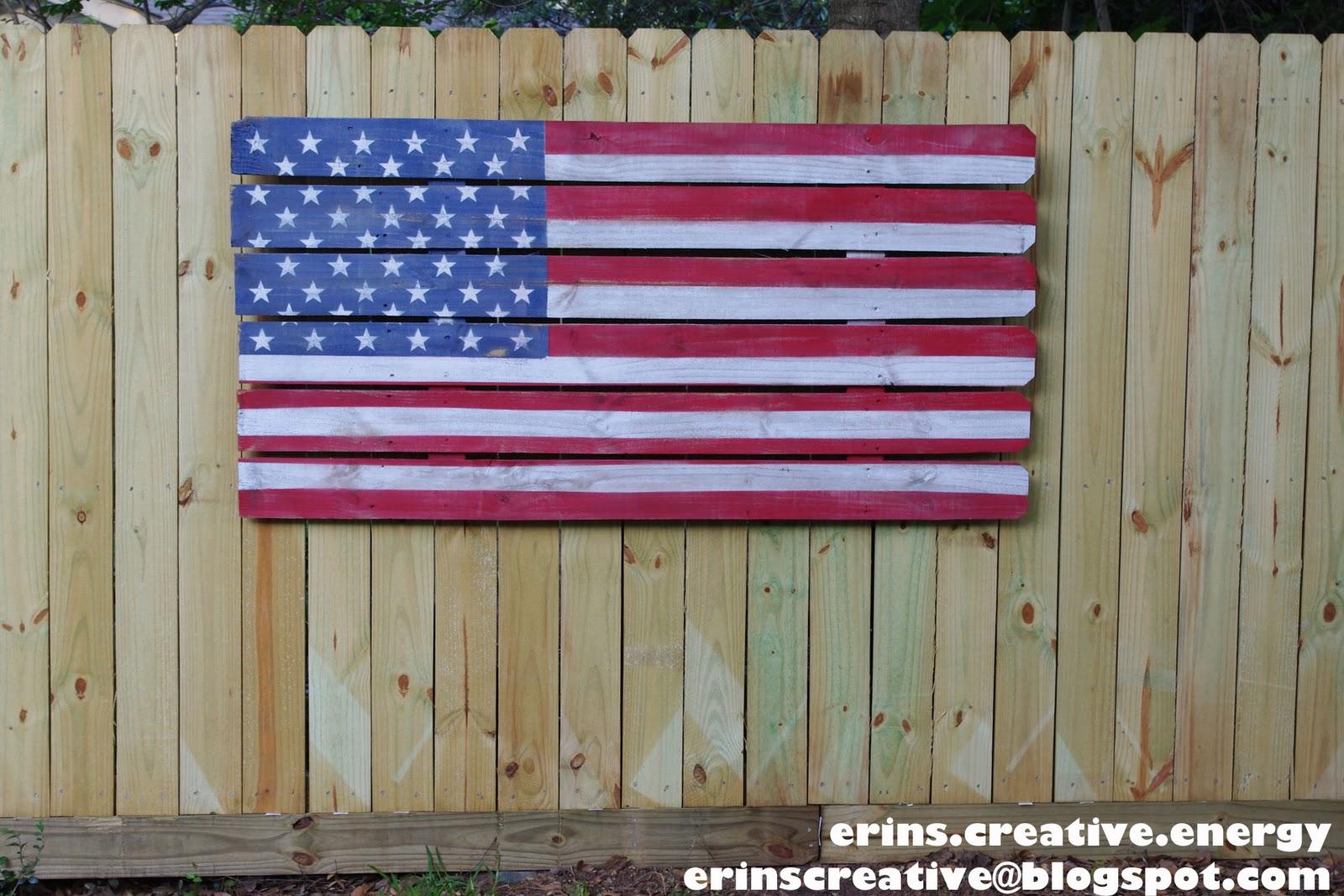 Erin S Creative Energy Fence Picket Flag