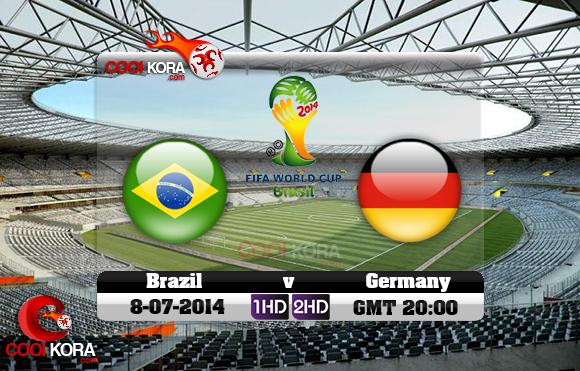 مشاهدة مباراة البرازيل وألمانيا بث مباشر 8-7-2014 علي بي أن سبورت كأس العالم Brazil vs Germany
