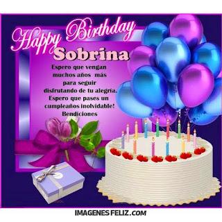 Feliz Cumpleaños Sobrina, mis mejores deseos.
