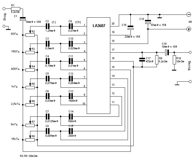 band graphic equalizer circuit diagram design using lmc835