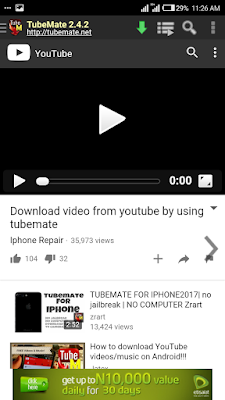 HOW TO DOWNLOAD YOU TUBE VIDEOS USING TUBE MATE ON ANDROID .