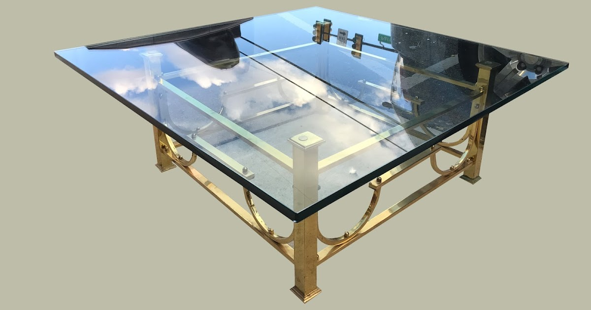 Uhuru Furniture & Collectibles: Glass & Brass Cocktail ...