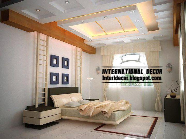 Modern Pop False Ceiling Designs For Bedroom Interior Gypsum