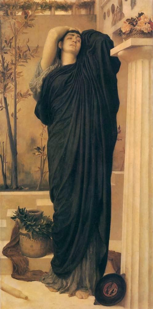 Electra no Túmulo de Agamenon - Lord Frederick, o mais famoso artista britânico do século XlX