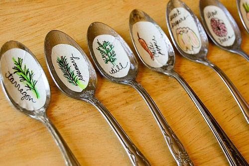 recycled spoon garden markers from domestic simplicity