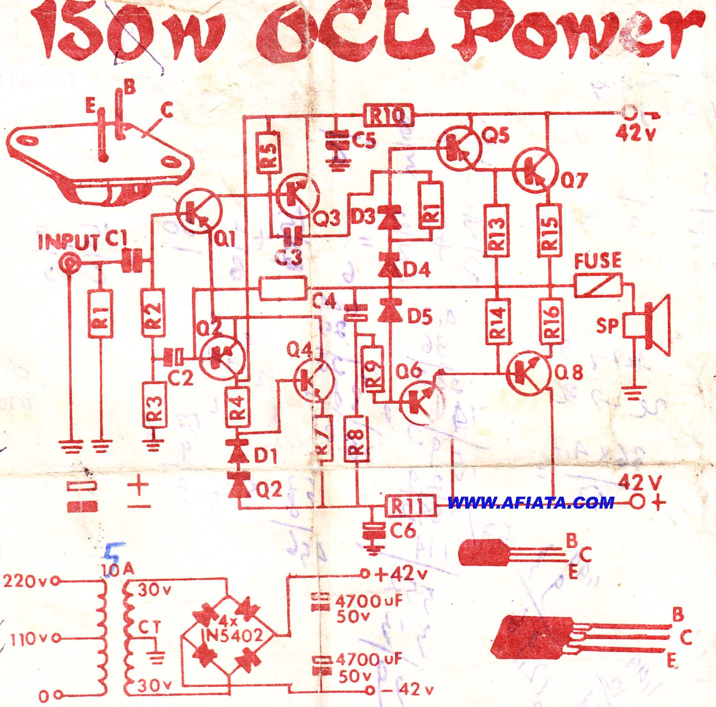 Insider 2n3055 Mj2955 Amplifier Circuit Http Wwweleccircuitcom Mcusystemcontroller12vdcmotorspeed Audio Using A564 D438 C1162