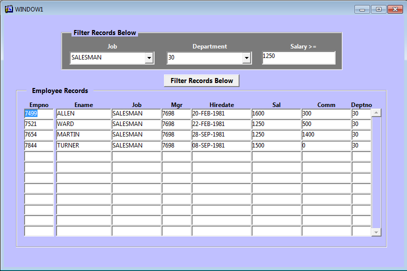 Example of Clear_Block in Oracle Forms