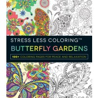 Stress Less Coloring Butterfly Gardens cover