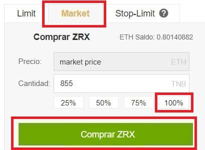 Comprar Binance y Coinbase 0X ZRX Tutorial Paso a Paso