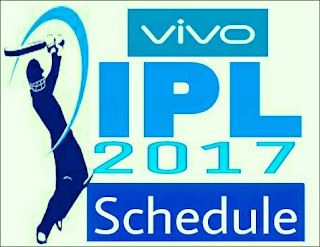 Vivo IPL 10 2017 Schedule fixtures: Full Fixture, Dates, Match Timings and Venue
