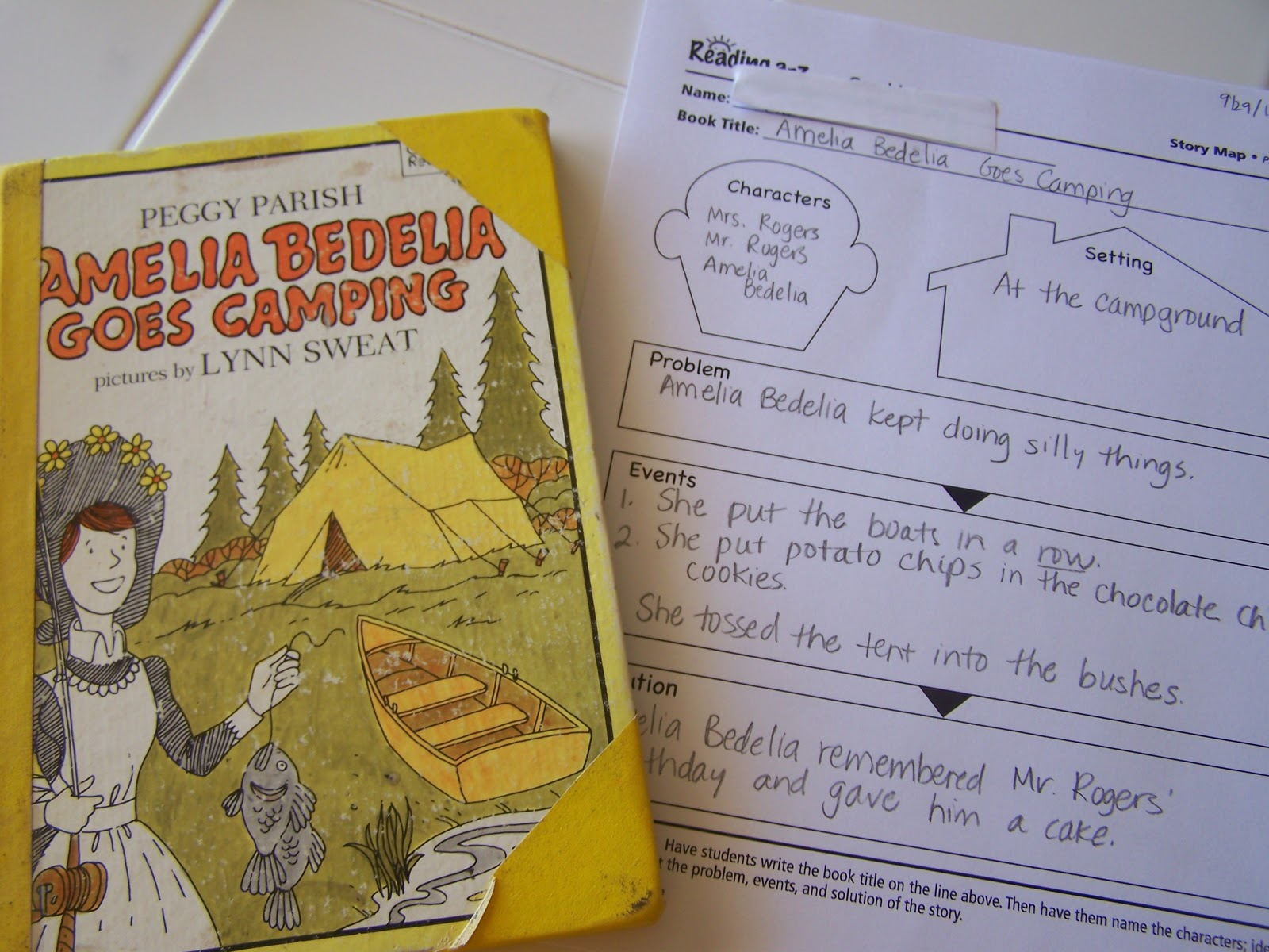 Walnut Hill Homeschool First Grade Reading Camping Week