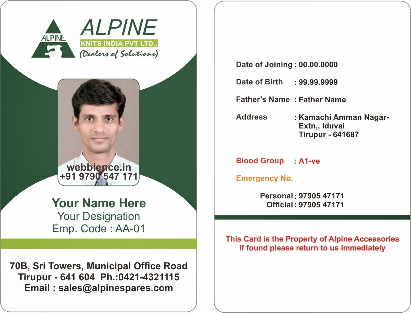 Template Galleries: Employee ID Card Templatres - New ...