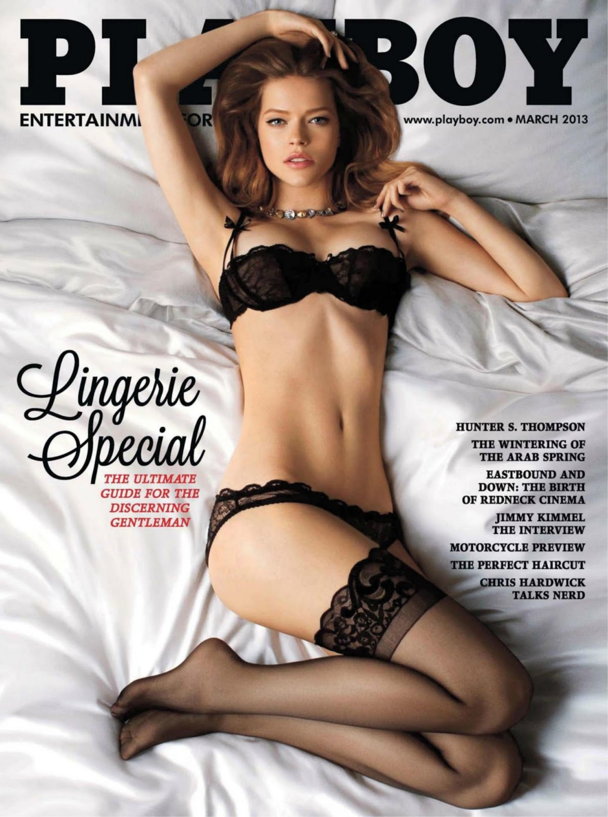 The Language of Lingerie - Playboy USA - March 2013 | pasjeleto