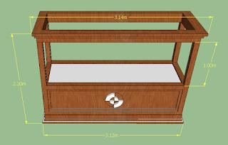Model Meja Akuarium dari Kayu