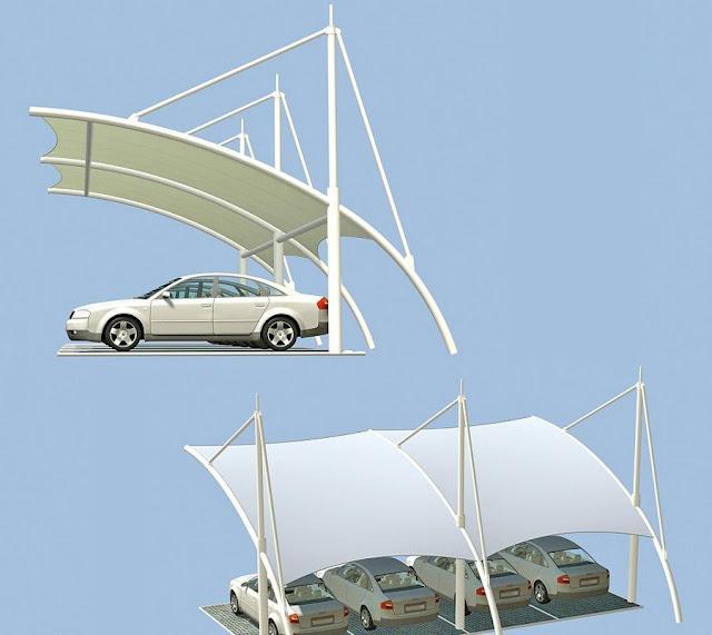 desain canopy membrane carport
