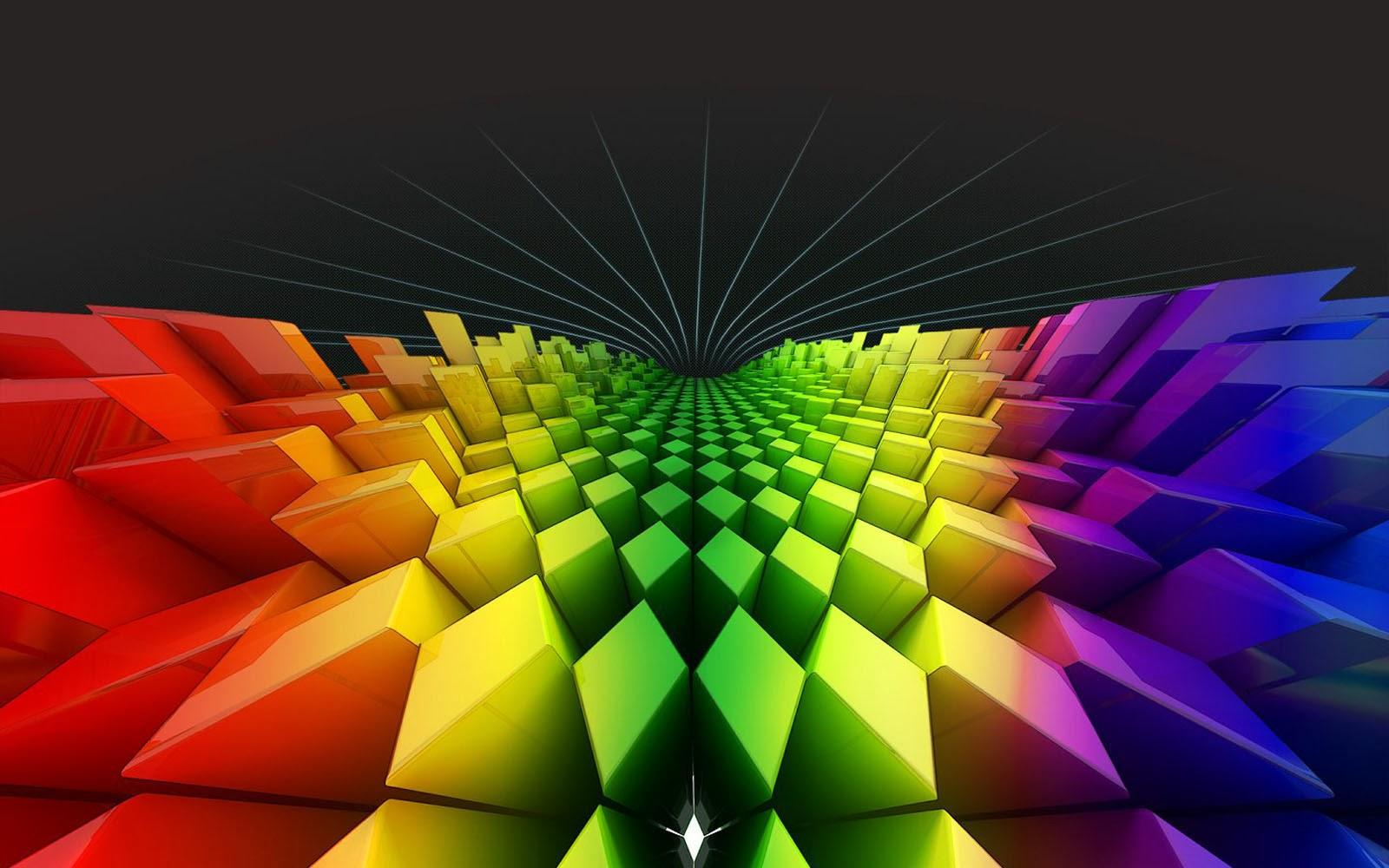 Rainbow Wallpaper Desktop: Wallpapers: Geometry Rainbow Colours Wallpapers