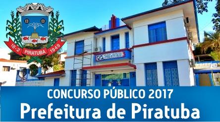 Concurso Prefeitura de Piratuba 2017