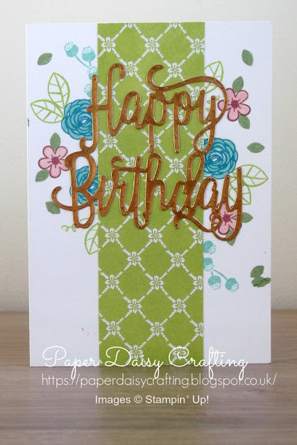 Happy Birthday Thinlits die Stampin Up!