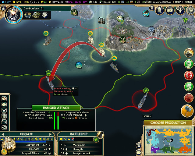 The Crazy Frigate | Civilization 5 screenshot