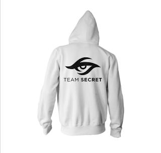 Hoodie Team Secret white - Baju Jaket Jumper Gaming