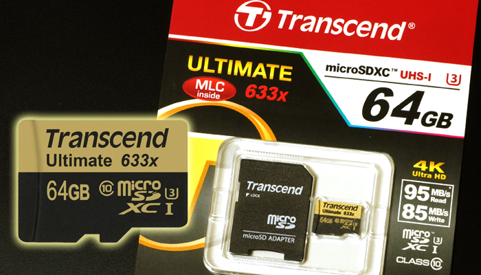 Transcend microSDXC 64GB Ultimate 633x(TS64GUSDU3)使用感想レビュー