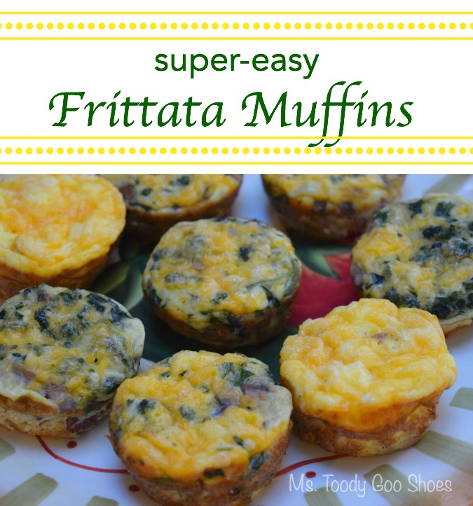 "Super Easy Frittata Muffins - There's the cronut, the brookie, and now the ""Frittufin"" -- a frittata in a muffin tin! Ms. Toody Goo Shoes"