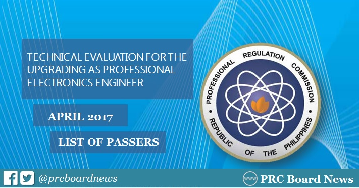 April 2017 Professional Electronics Engineer (PECE) Technical Evaluation